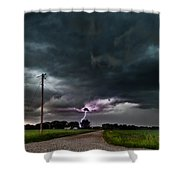 Mikey's Lightning  Shower Curtain