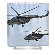 Mil Mi-17 Helicopters Of The Czech Air Shower Curtain