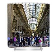 Milan Shopping Mall Shower Curtain