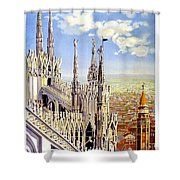 Milan Travel Print Shower Curtain