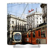 Milan Trolley 4 Shower Curtain