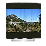 Mile-high Bridge Shower Curtain