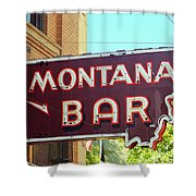 Miles City, Montana - Bar Neon Shower Curtain