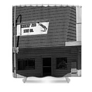 Miles City, Montana - Downtown Bw Shower Curtain