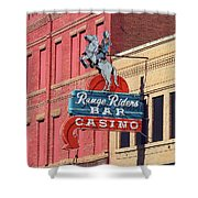 Miles City, Montana - Downtown Casino Shower Curtain