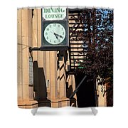Miles City, Montana - Downtown Clock Shower Curtain