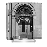 Miles City, Montana - Downtown Entrance Bw Shower Curtain