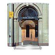 Miles City, Montana - Downtown Entrance Shower Curtain
