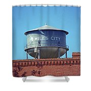 Miles City, Montana - Water Tower Shower Curtain
