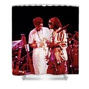 Miles Davis Image 10 And Bob Berg 1985 Your Under Arrest Tour Shower Curtain