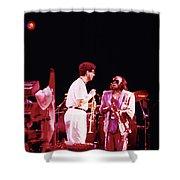 Miles Davis Image 9  With Bob Berg  Shower Curtain