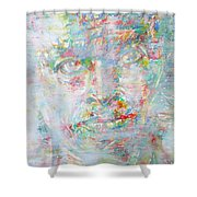 Miles Davis - Watercolor Portrait.4 Shower Curtain