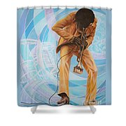 Miles Davis  In A Yellow Suit Shower Curtain