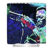 Miles Jazz Shower Curtain