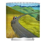 Miles To Go Shower Curtain