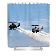 Military Helicopters Shower Curtain