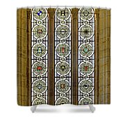 Military Insignia On Stained Glass - Meuse Argonne - East Shower Curtain
