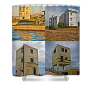 Military Observation Towers Operation Bumblebee Shower Curtain