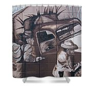 Military Truck Street Art Shower Curtain