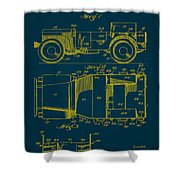 Military Vehicle Body Patent Drawing 1a Shower Curtain