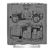 Military Vehicle Body Patent Drawing 1d Shower Curtain