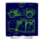 Military Vehicle Body Patent Drawing 1e Shower Curtain