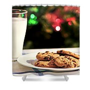 Milk And Cookies For Santa Shower Curtain