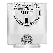 Milk Bottle Caps Shower Curtain