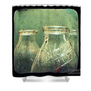 Milk Bottles Shower Curtain