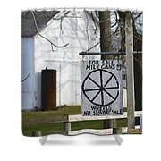 Milk Cans And Buggy Wheels Shower Curtain