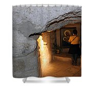Milk Grotto Church Shower Curtain