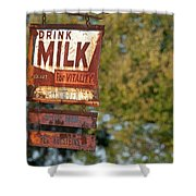 Milk Sign Shower Curtain