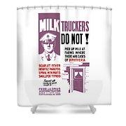Vintage Milk Trucker Fda Warning  Shower Curtain