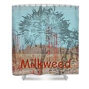 Milkweed Collage Shower Curtain