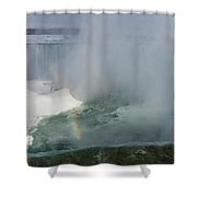 Milky Mist And Double Rainbows - Glorious Niagara Falls Shower Curtain