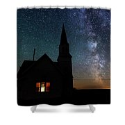 Milky Way And Old Church Shower Curtain