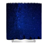 Milky Way And Trees Shower Curtain