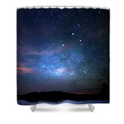 Milky Way At 9 Mile Pond Shower Curtain