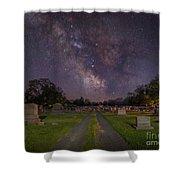 Milky Way Cemetery Shower Curtain