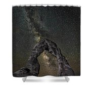 Milky Way Delicate Arch Shower Curtain