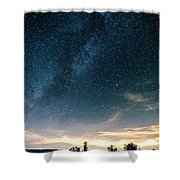 Milky Way During Perseids Shower Curtain