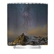 Milky Way In Lofoten Shower Curtain