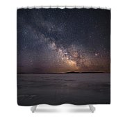 Milky Way In March, Sturgeon Bay Shower Curtain