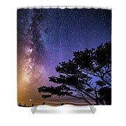 Milky Way In Newport, Or Shower Curtain