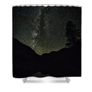 Milky Way Lee Vining Area 2 Shower Curtain