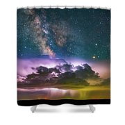 Milky Way Monsoon Shower Curtain