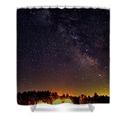 Milky Way, Moultonborough, Nh Shower Curtain