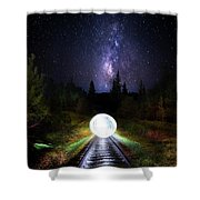 Milky Way Orb Shower Curtain