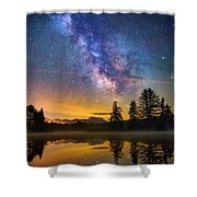 Milky Way Over Coffin Pond  Shower Curtain