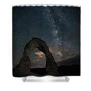Milky Way Over Delicate Arch Shower Curtain